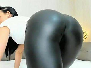 Sexy Big Boot In Latex Leggings Pov On Webcam