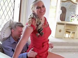 Hot Phoenix Marie In Her Red Dress Doing A Spectacular Blowjob Upornia Com