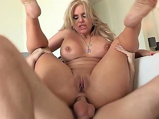 Big Cock Penetrates Her Small Asshole