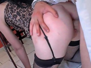 Amateur French Whore Ass Plugged And Hammered