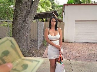 Curvy MILF With Big Boobs Cristal Caraballo Gets Her Muff Rammed For Cash