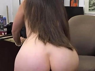 Big Ass Midget XXX White MILF Strap On