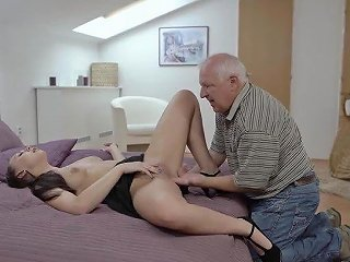 Daddy4k Red Haired Gal Couldn't Resist To Charms Of Handsome Old Man