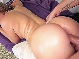Teen With Oiled Big Butt