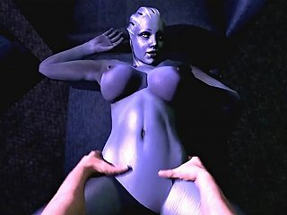 Sexy Ass Blue 3d Babe Gets Mouth And Pussy Drilled