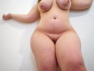 Chubby Girl Shows Off Her Big Natural Tits And Huge Butt